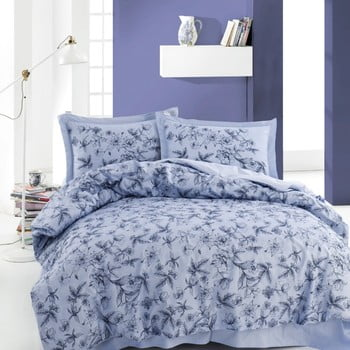 Lenjerie de pat din bumbac cu cearșaf Carrol, 220 x 240 cm de la Unknown