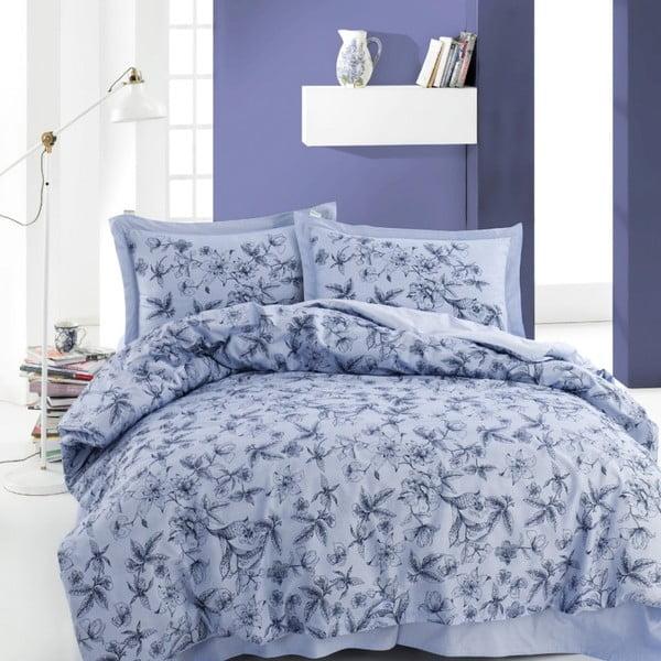 Lenjerie de pat din bumbac cu cearșaf Carrol, 220 x 240 cm