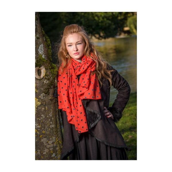 Šátek Dotty Red, 180x100 cm