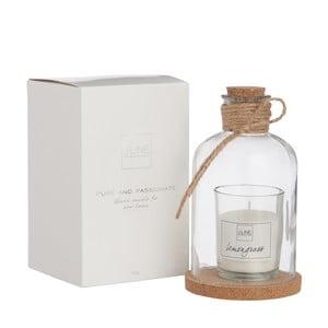 Sklenice s vonnou svíčkou Bottle Candle, 8x14 cm, vůně citronové trávy