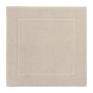 Béžová koupelnová předložka z egyptské bavlny Aquanova London, 60x60cm