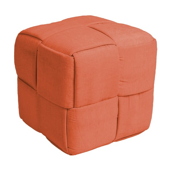Čtvercový puf Scoubidou, oranžová