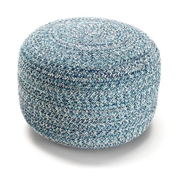 Niebieski bawełniany puf Tomasucci Spring