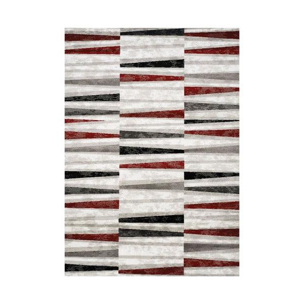 Manhattan Tribeca szürke-piros szőnyeg, 160 x 230 cm - Webtappeti