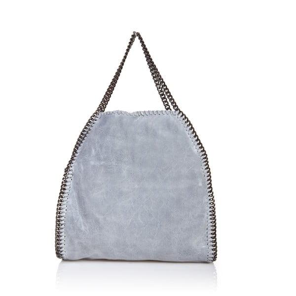 Kožená kabelka Markese 126, šedá