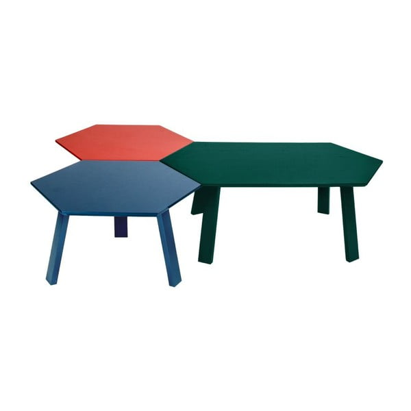 Konferenční stolek Hexagon Green, 105x37x61 cm