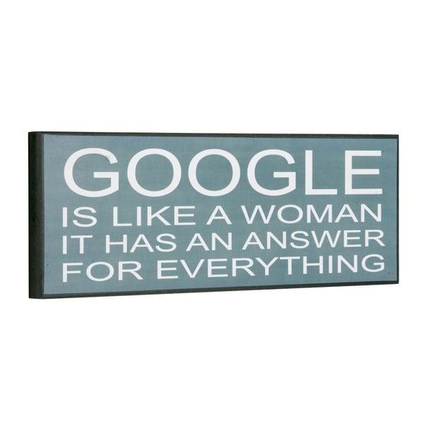 Cedule Google is like a woman, 14x40 cm