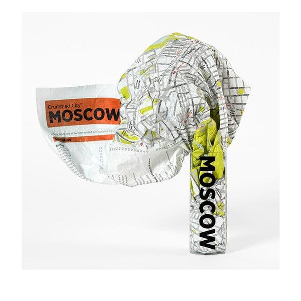 Zmačkaná cestovní mapa Moskva