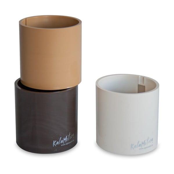 Set 3ks magnetických květináčů Cylinder Brown, střední