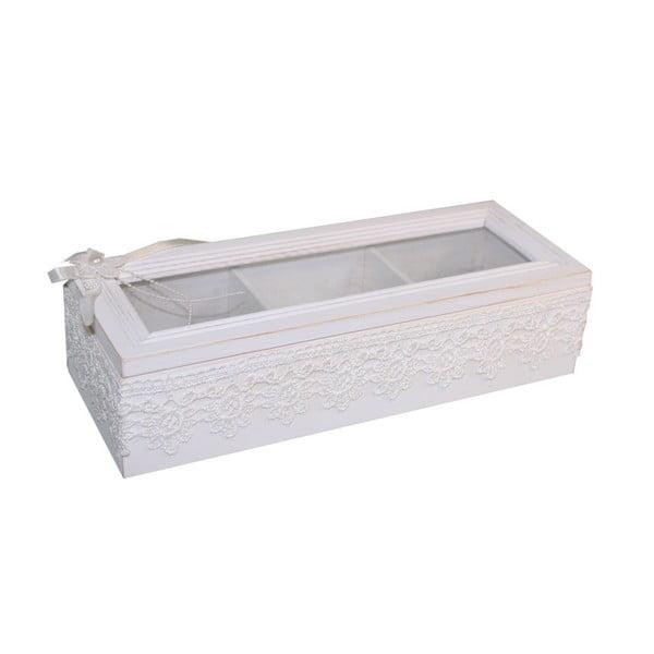 Cutie albă pentru bijuterii Antic Line Jew
