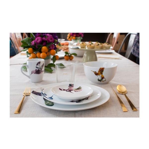 Sada 6 porcelánových talířů Flutter, 21 cm