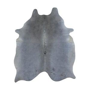 Covor din piele de vacă, 185 x 140 cm, gri