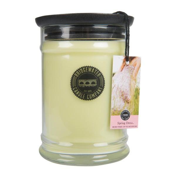 Svíčka ve skleněné dóze s vůní květin a citrusů Bridgewater candle Company Spring Dress, doba hoření 140-160 hodin