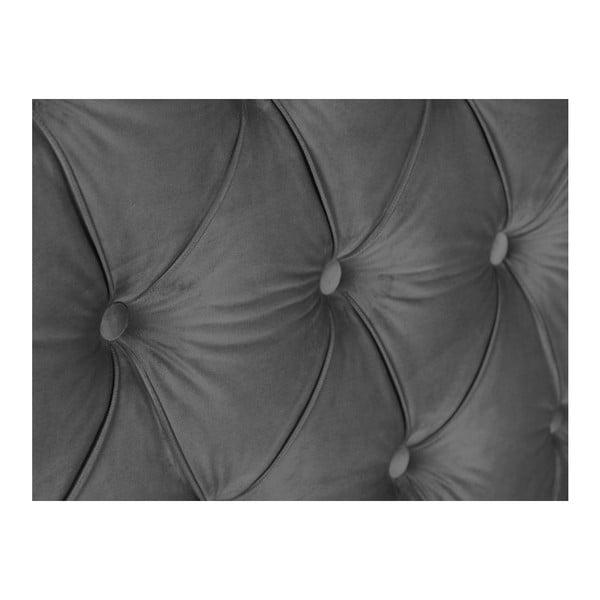 Stříbrno-šedé čelo postele Mazzini Sofas Anette, 180 x 120 cm