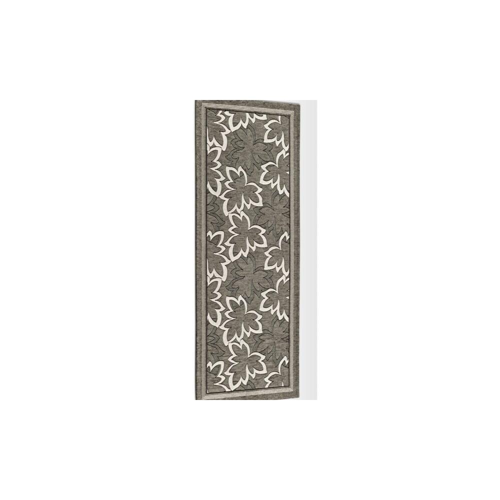 Šedohnědý vysoce odolný kuchyňský běhoun Webtappeti Maple Fango, 55 x 140 cm