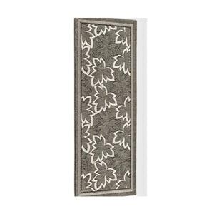 Šedohnědý vysoce odolný kuchyňský běhoun Webtappeti Maple Fango,55x140cm