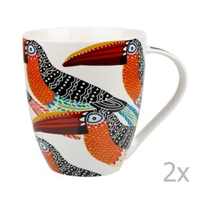 Sada 2 hrnků Churchill China Toucans, 500 ml