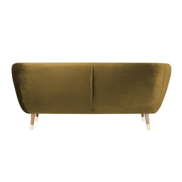 Třímístná pohovka ve zlaté barvě Mazzini Sofas Benito