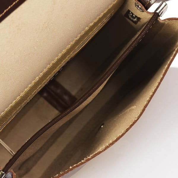 Hnědá kožená kabelka Giorgio Costa Calista