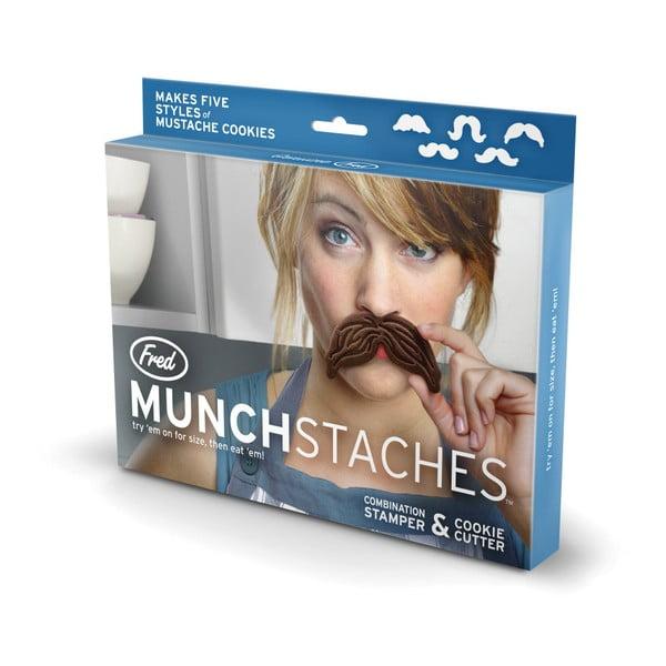 Sada 5 vykrajovátek na cukroví Fred & Friends Munchstaches