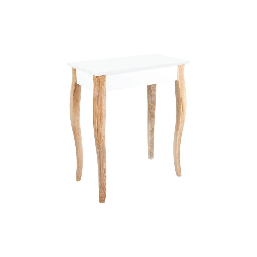 Bílý toaletní stolek se zrcadlem Ragaba Dressing Table, délka 65 cm