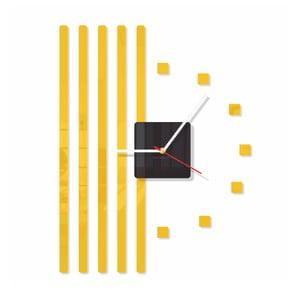 Hodiny z plexiskla Points Yellow