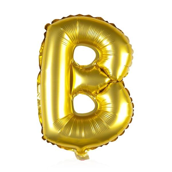 Balónek B zlaté, 30 cm