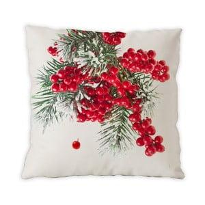 Oboustranný bavlněný polštářek Berries Christmas, 40x40cm