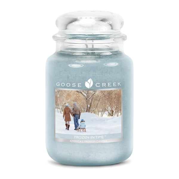 Lumânare parfumată în recipient de sticlă Goose Creek Frozen In Time, 150 ore de ardere