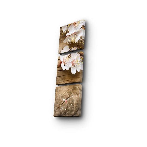 Ceas de perete cu imagine Jarní Květy, 90 x 28 cm