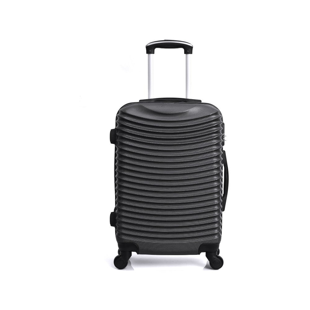 Černý cestovní kufr na kolečkách Hero Etna, 96 l