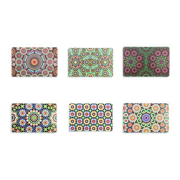 Set 6 suporturi din plastic pentru farfurii Villa d'Este Marrakech