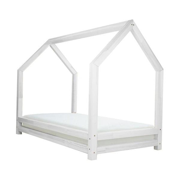 Bílá dětská postel z lakovaného smrkového dřeva Benlemi Funny, 90 x 200 cm