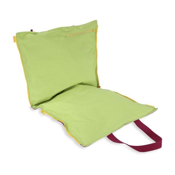 Skládací sedák Hhooboz 100x50 cm, růžový