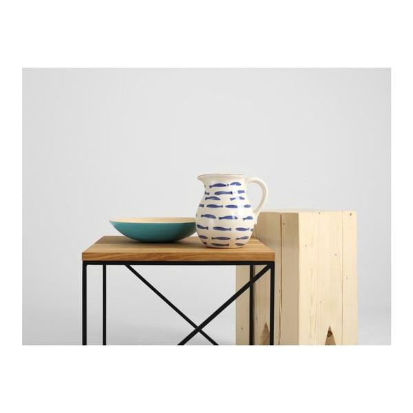 Măsuță de cafea cu blat din lemn de stejar Custom Form Memo, 50 cm, negru-natural