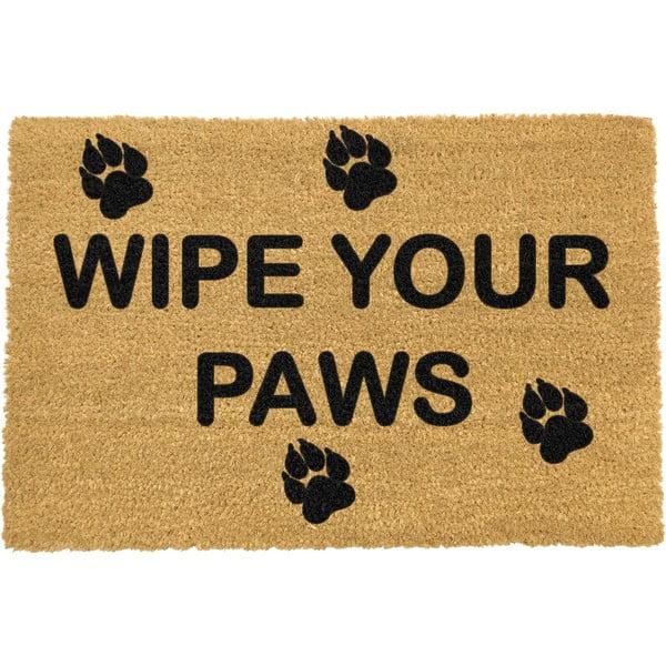 Rohožka z přírodního kokosového vlákna Artsy Doormats Wipe Your Paws,40x60cm