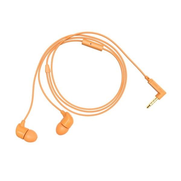 Sluchátka s nástavci Happy Plugs, oranžová