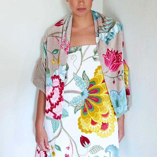 Osuška Pip Studio Floral Fantasy, 70x140 cm, bílá