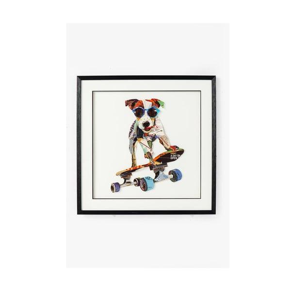Skater Dog kép, 65 x 65 cm - Kare Design