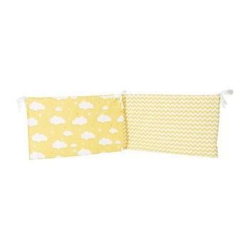 Protecție din bumbac pentru patul copiilor Apolena Carino, 40 x 210 cm, galben imagine