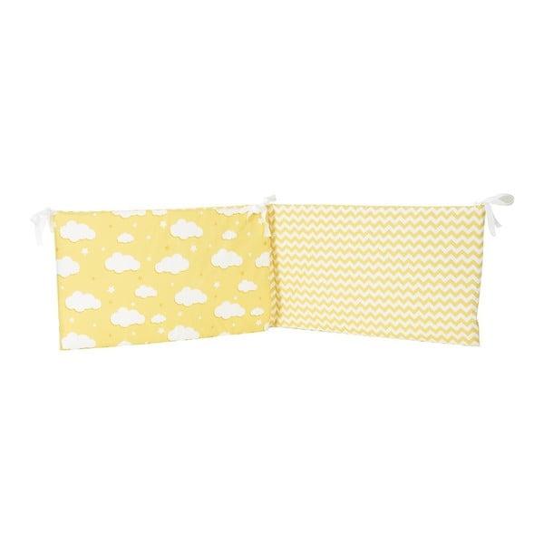 Protecție din bumbac pentru patul copiilor Apolena Carino, 40 x 210 cm, galben