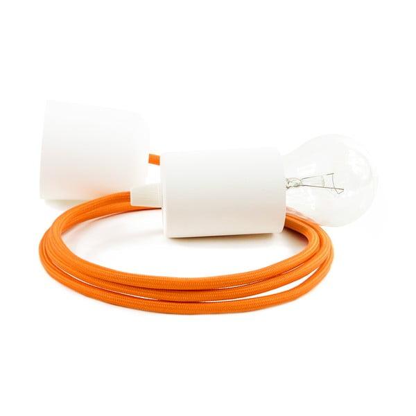 Závěsné svítidlo s oranžovým kabelem a bílou objímkou Bulb Attack Cero