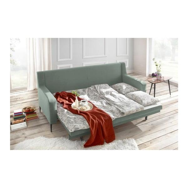 Canapea extensibilă Bobochic Paris Bergen, verde deschis