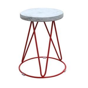 Stolička s betonovým sedákem Red Cartel District Rouge
