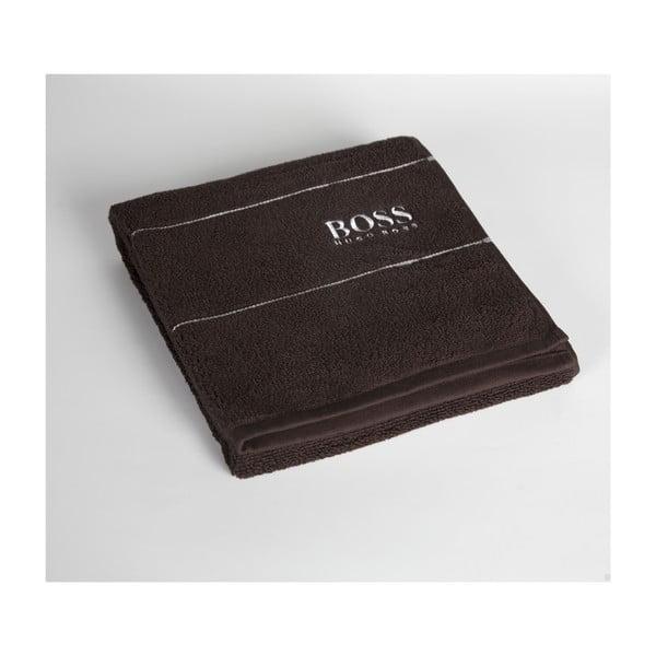 Ručník Hugo Boss Plain 50x100 cm, čokoládový