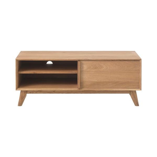 Komoda w dekorze dębowym z nogami z drewna dębowego Unique Furniture Rho