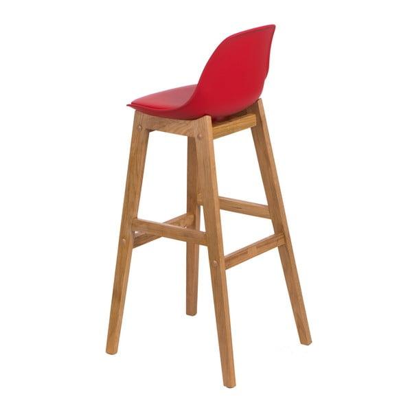 Červená barová židle D2 Norden Wood