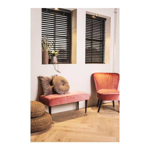 Růžová lavice se sametovým potahem Leitmotiv Luxury