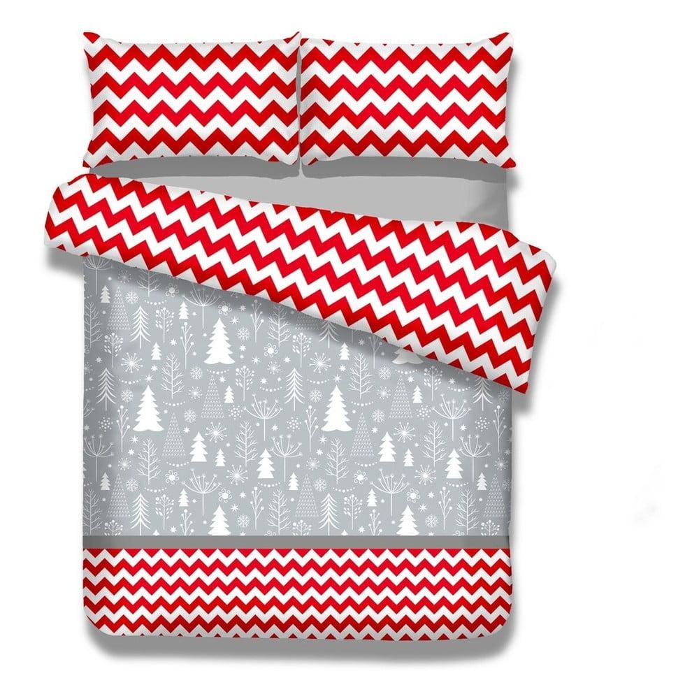 Flanelové povlečení nadvoulůžko AmeliaHome Christmas Mess, 200x220cm +70x80cm AmeliaHome