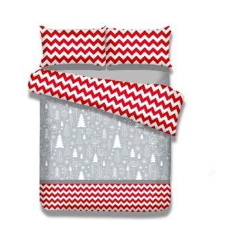 Lenjerie de pat din flanel AmeliaHome Christmas Mess, 200 x 220 cm + 80 x 80 cm